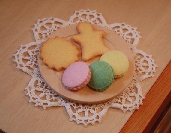 マカロンとクッキー(フェルト)