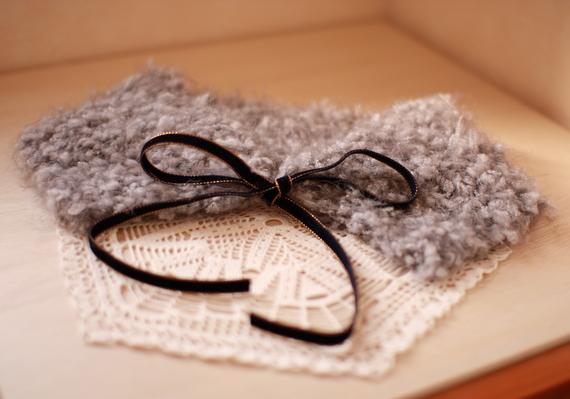 手編みのティペット