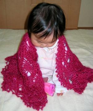 かぎ針編みのショール
