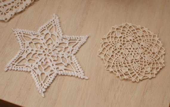 レース編みのモチーフ